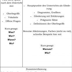 Cornell Methode - Notizen